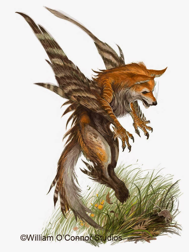 Winged fox enfield mythological creature